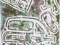 Monotype - Monotype avec plusieurs passages - Image d'origine. Elise Desvaux Nsongo