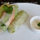 Rouleaux de printemps gambas et crabe - Cuisine gourmande de Carmencita