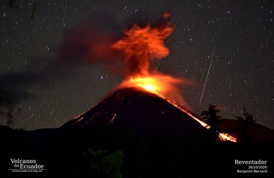 Activity of Reventador, Bezymianny, Etna and Sinabung