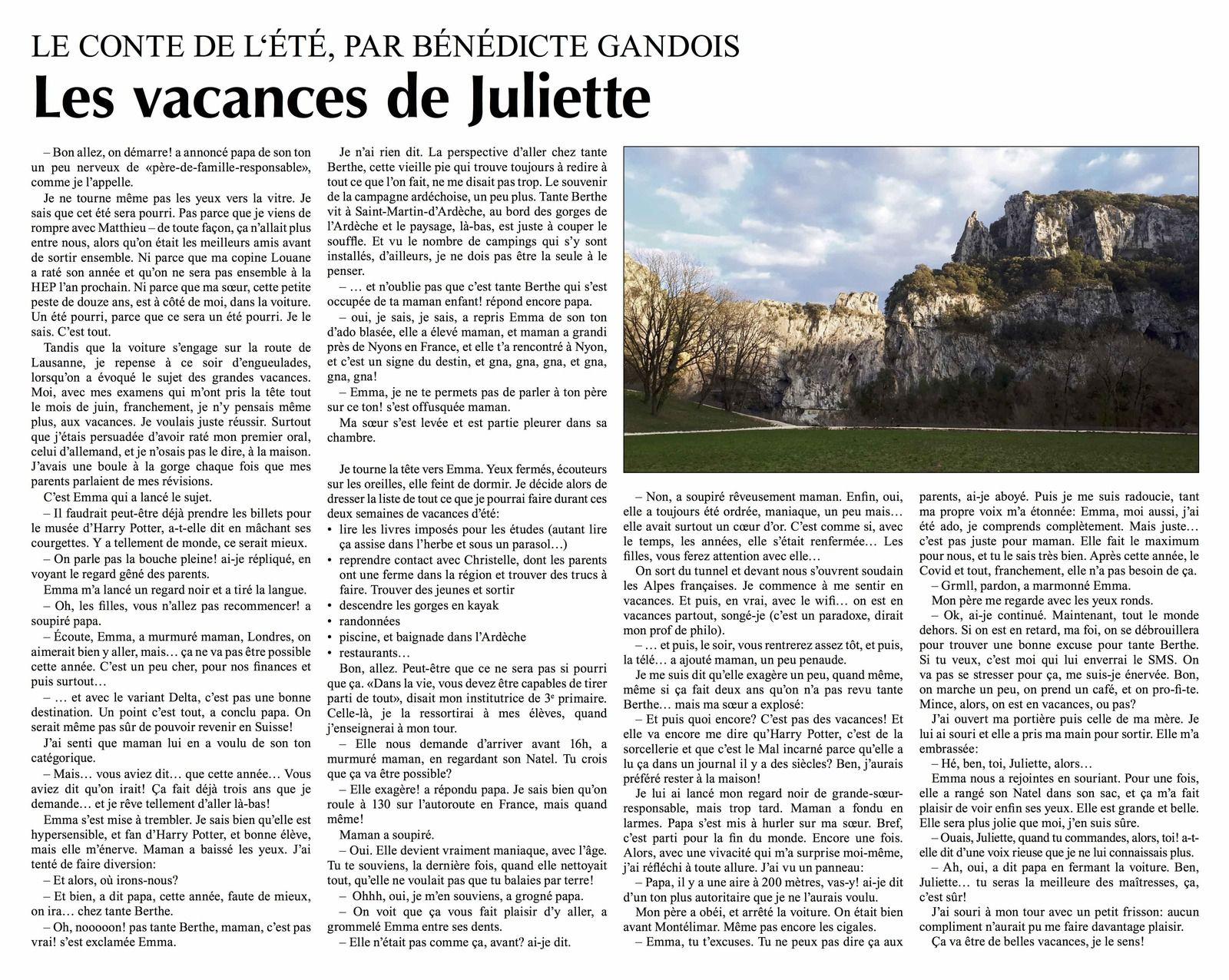 Les vacances de Juliette: un conte d'été