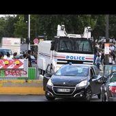 3 camions anti-émeute canon à eau avec sirène US
