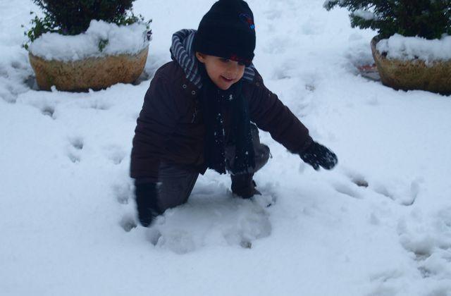 Bataille de bonshommes de neige