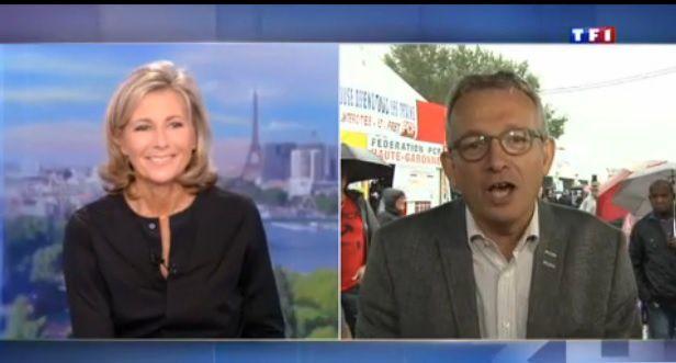 Au 13h de TF1, Pierre Laurent adresse un message de soutien à Claire Chazal