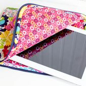 The Pretty Quilted iPad Case {free pattern}