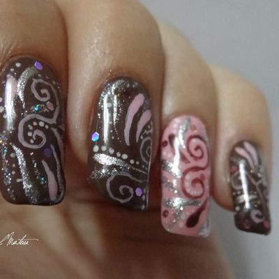 [Nail-art] Spirales festives