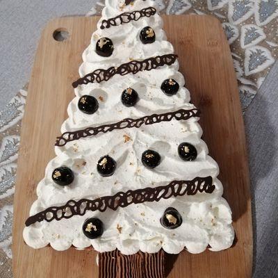 Gâteau de Noël - Sapin Forêt noire