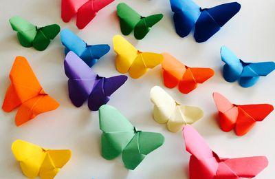 TUTO papillons en papier