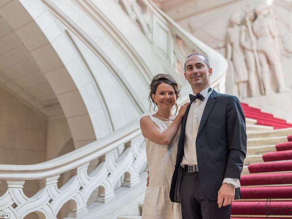 Reportage lors d'un mariage à l'hotel de ville de Tours