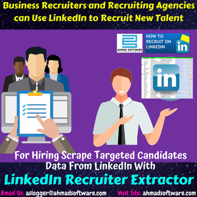 How can I scrape candidates data from LinkedIn to recruit new employees