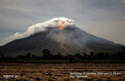 Sinabung, Korovin and Stromboli activity.
