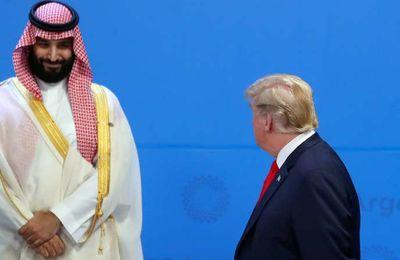 Prince héritier saoudien Mohammed Ben Salman et Donald Trump Au G20 le 30 novembre 2018...