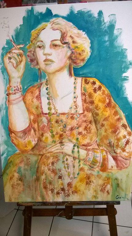 Perpignan: la peintre Cécile Creixell s'expose au café Pams des demain 11h place Rigaud! interview par Nicolas Caudeville