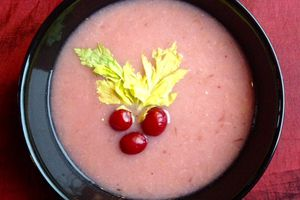 Parsnip Soup with Cranberry