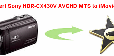 Import Sony HDR-CX430V 1080/60p AVCHD footage to iMovie for further editing
