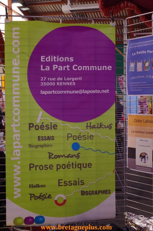 Pendant 2 jours, les 29 et 30 mars, se déroulait à Rennes, la 7ème édition du Festival Rue des Livres