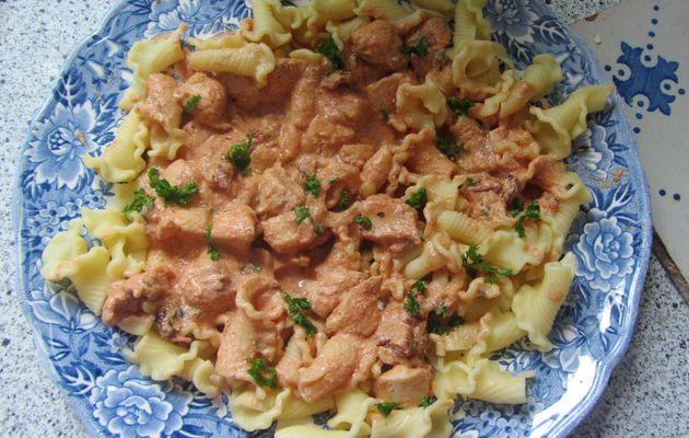 Corolles alsaciennes au poulet et aux tomates séchées