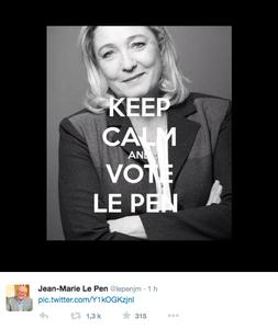 Jean-Marie Le Pen n'est pas Charlie et c'est lui qui le dit ! #FN