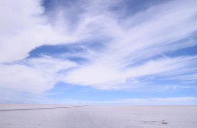 blanc : salar d'Uyuni