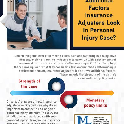 What Are The Additional Factors Insurance Adjusters Look In Personal Injury Case?