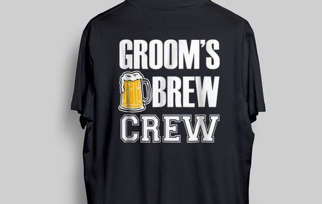 Awesome Groom's Brew Crew Beers shirt