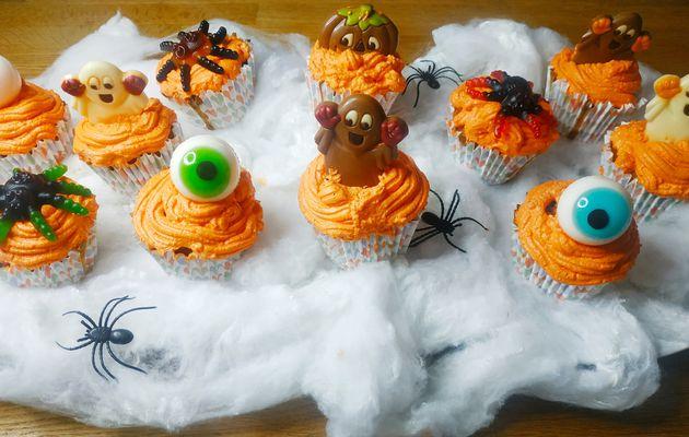 Cupcakes d'halloween à la citrouille