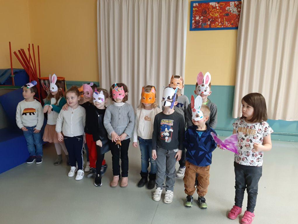 Carnaval sur la restauration scolaire Raymond LeCorre le mardi 16 février 2021.
