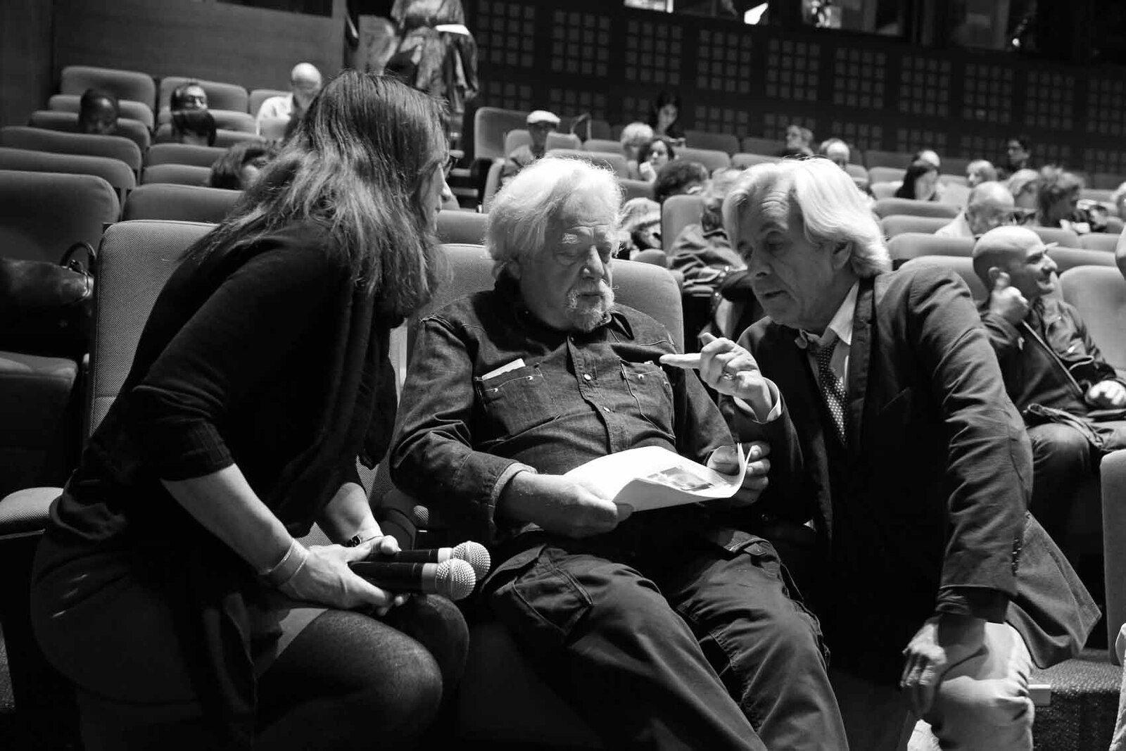 Nicole Brenez, Jean-Jacques Lebel, Dominique Païni