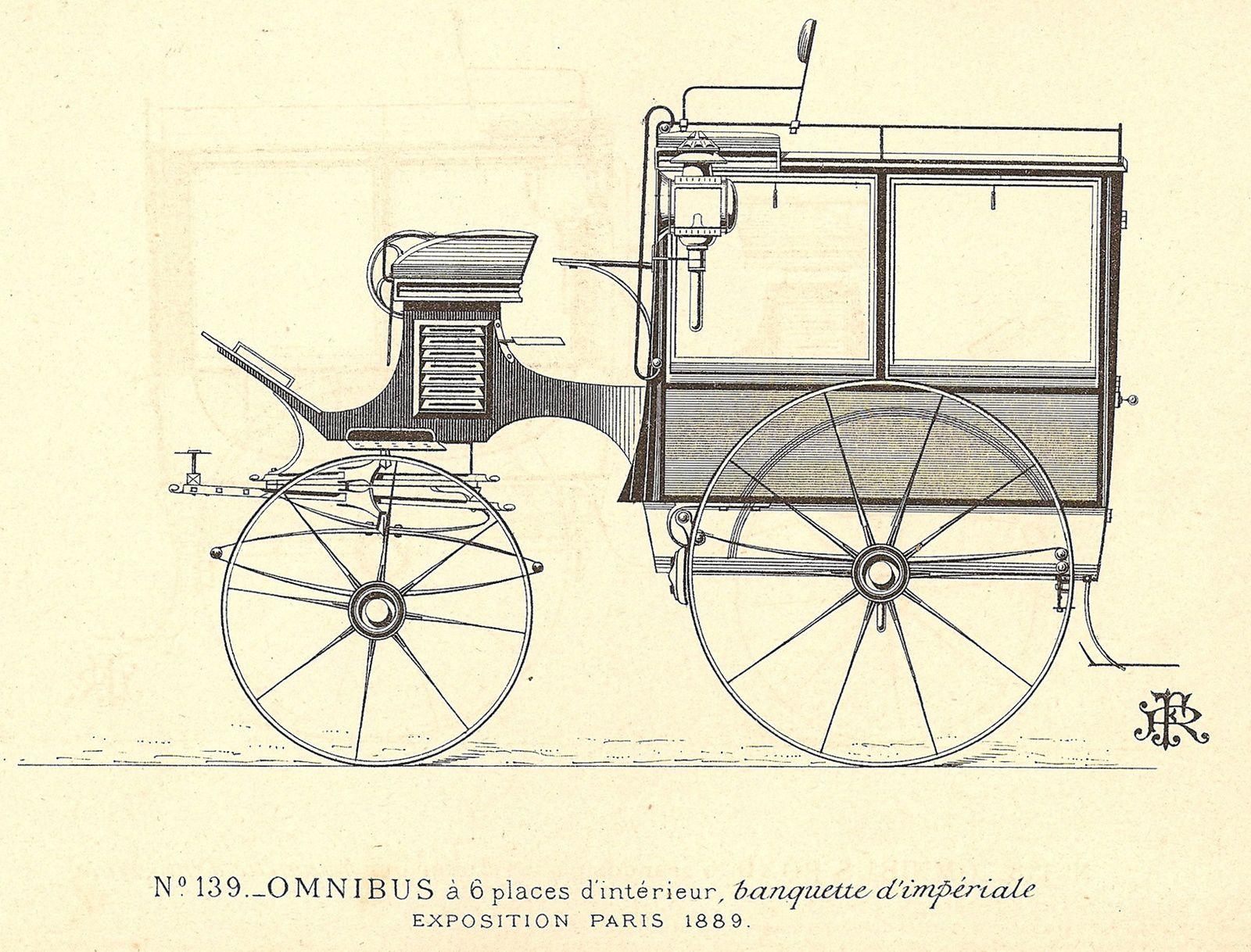 La participation à l'Exposition Universelle de Paris en 1889 avec 3 voitures, dont un étonnant mail-coach ouvert, fait définitivement entrer la Maison Rétif frères dans le cercle restreint des grands carrossiers.