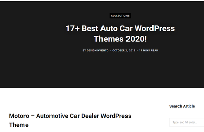 17+ Best Auto Car WordPress Themes 2020!