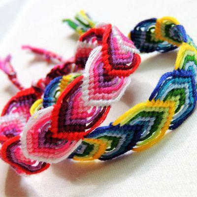 bracelets brésilien motif feuille