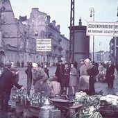 Jewish ghetto life, in color, from 'Hitler's photographer'