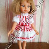 tuto gratuit poupée: robe jacquard pour l'hiver - Chez Laramicelle