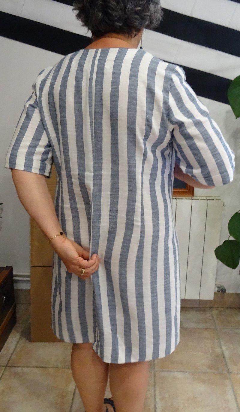 Ma robe droite rayée