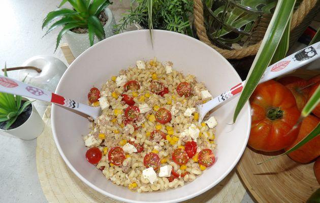 Salade de Pâtes Thon Tomates Kiri