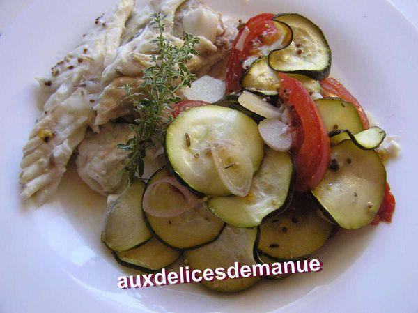 daurade et légumes froids -LiGHT-