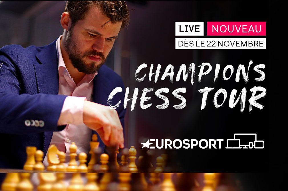 Les échecs arrivent sur Eurosport avec la diffusion du Champions Chess Tour