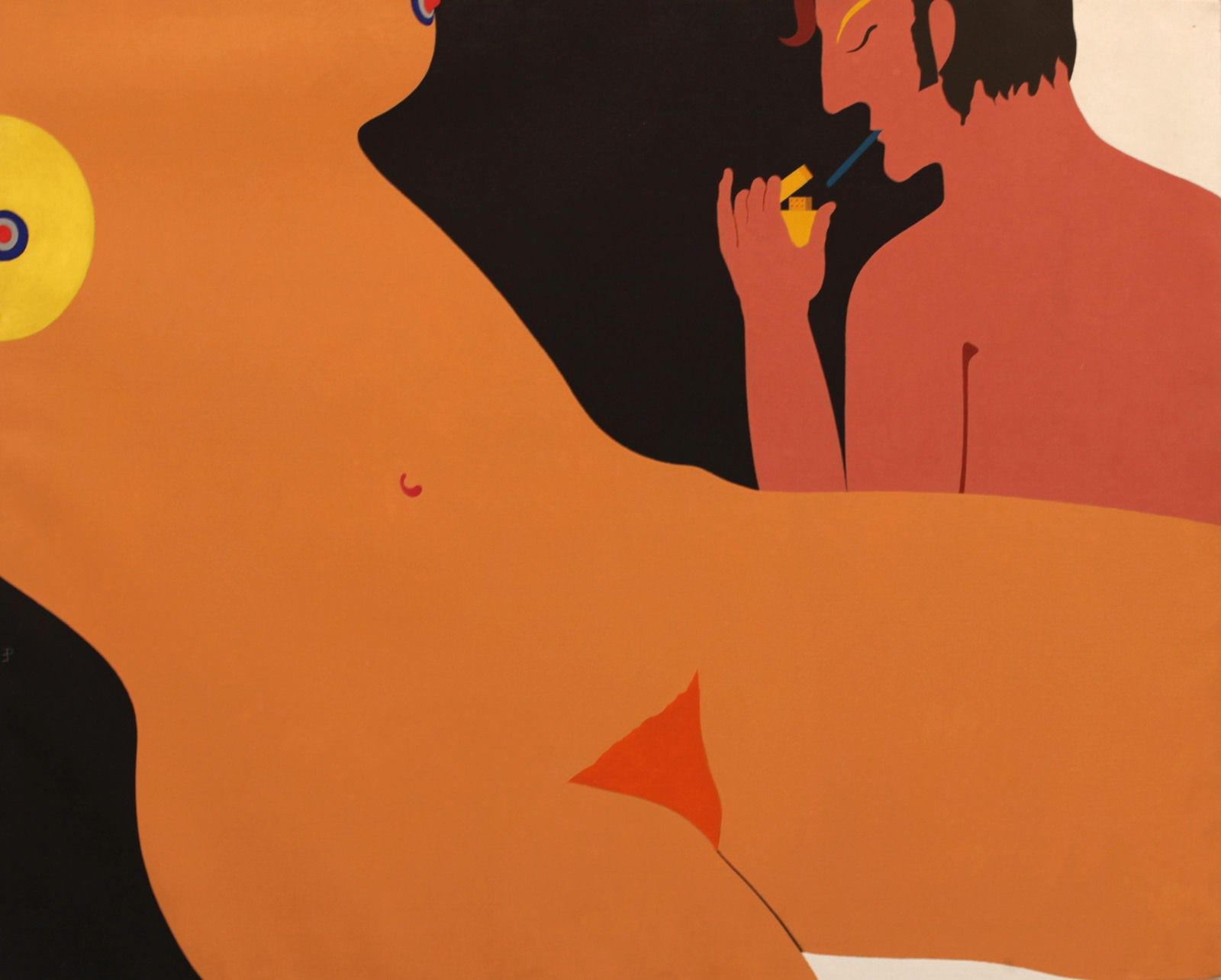 """""""La première cigarette"""", juin 1969 de Emanuel PROWELLER - Courtesy de la Galerie G-P & N Vallois © Photo Éric Simon"""