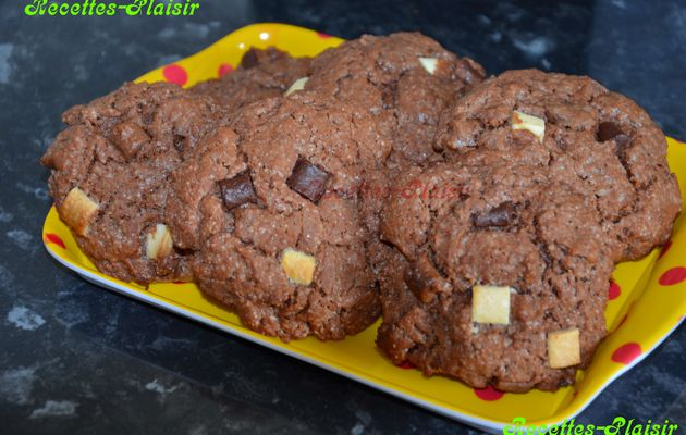 Cookies aux chunks 3 chocolats