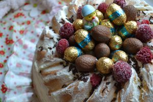 Gâteau de Pâques mascarpone framboises