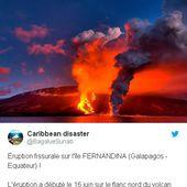 Galapagos:Les autorités équatoriennes ont ordonné mardi l'évacuation «à titre préventif» de 50 habitants de l'île principale des Galapagos, menacés par l' éruption du volcan Sierra Negra (videos)