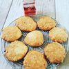 Cookies au sucre printemps et dés d'écorces d'orange confite