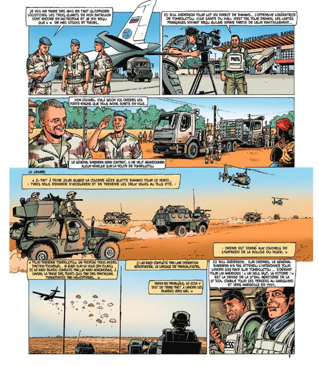 L'armée dessinée : « Opération Serval » aux éditions du Triomphe.