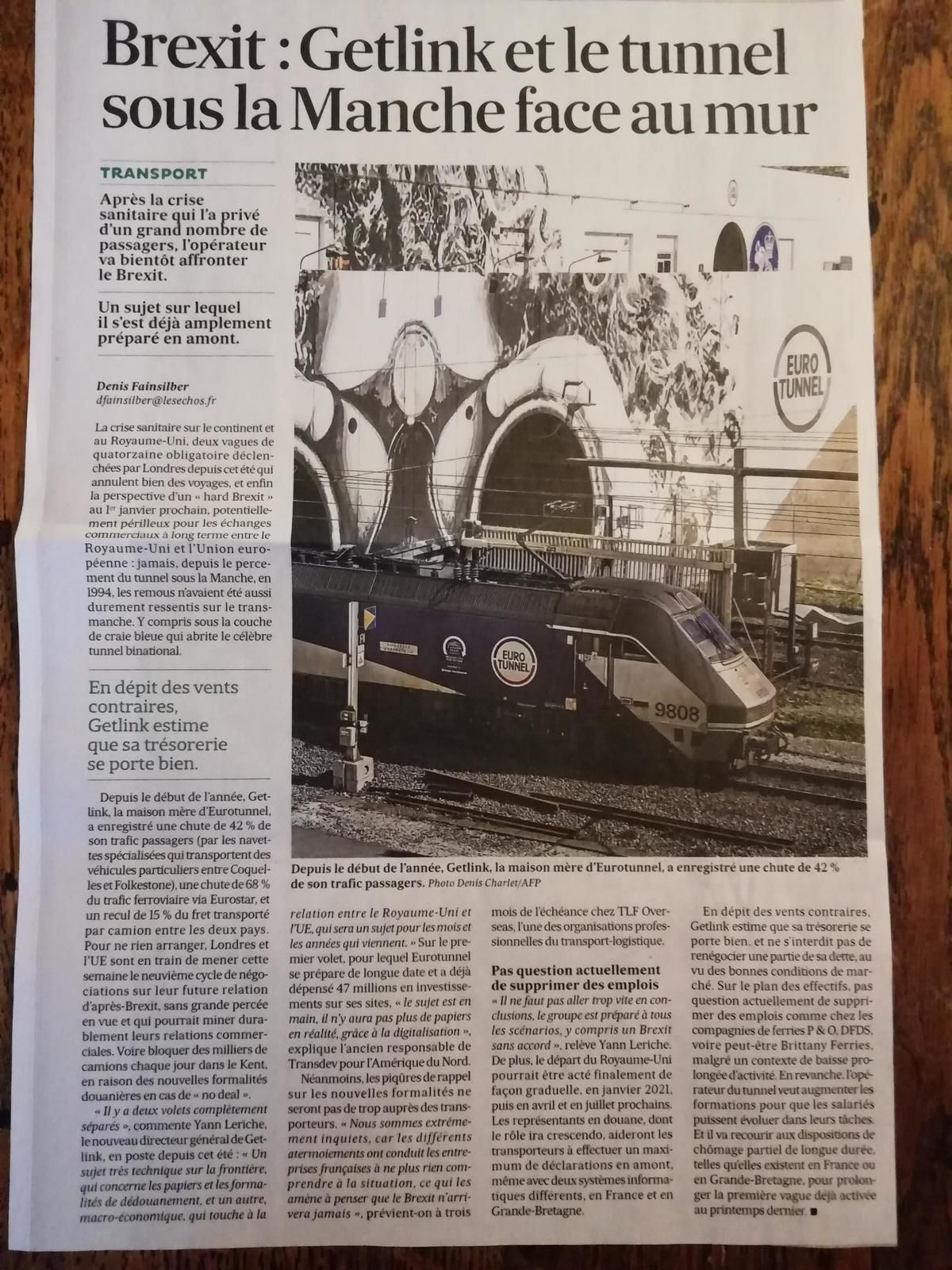 Vus et lus dans Le Figaro du 10/09/20, le JDD du 20/12/20, et les Echos du 30/09/20
