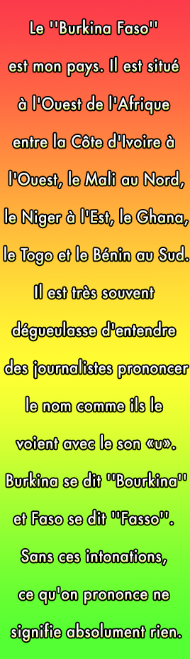 "Prononciation ""Burkina Faso"""