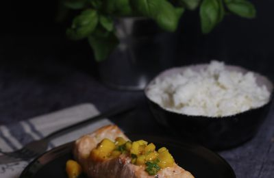 FILET DE SAUMON MANGUE BASILIC