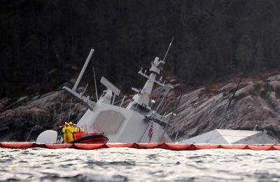 Norvège – Suite à une collision avec un pétrolier, une frégate menace de couler