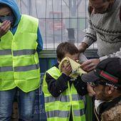 Gilets jaunes - Quand la sauvagerie bestiale des serpents au pouvoir fait force de loi sous le Macrotal !!!! - Bernard-Alex artiste plasti-cœur