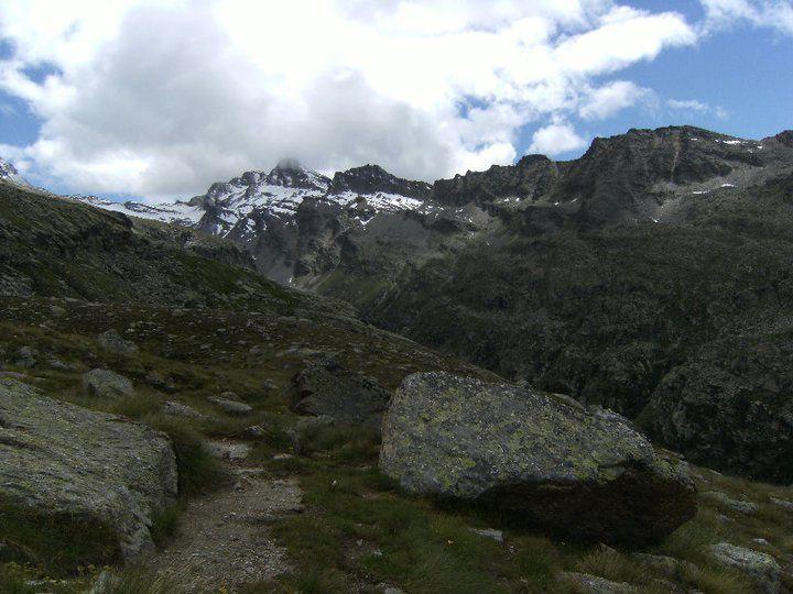 Durant l'ascension vers le refuge Vittore Emmanuelle II (2735m)