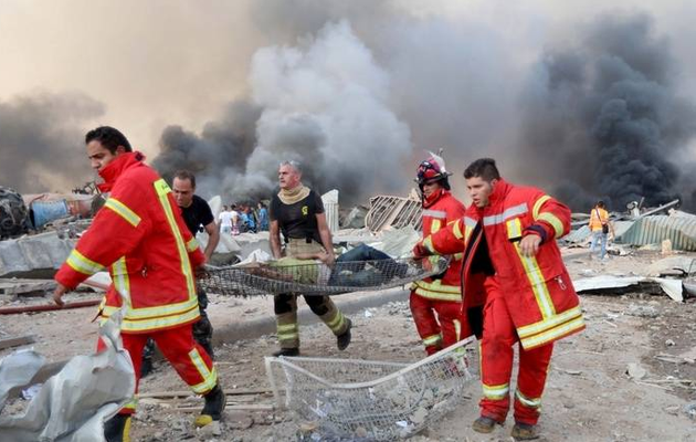 At least 70 dead and 2,500 wounded in two huge explosions that rocked Lebanese capital Beirut
