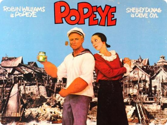"""Popeye compie 40 anni : il film """"dimenticato"""" di Altman che lanciò Robin Williams al cinema (""""Popeye"""" a 40 ans : le film """"oublié""""  d'Altman qui lança Robin Williams au cinéma)"""